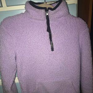 Purple lavender sherpa sweater